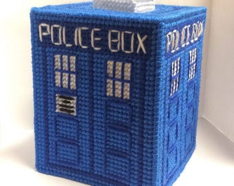 Dr. Who Police Box - Tissue Box Cover
