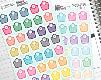 """70 Scale Stickers - """"Weight On The Scale"""" Stickers - Multi Color Variety Line 1 Bedroom Decorative Planner Stickers"""
