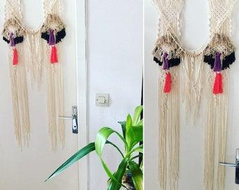 Ecru weaving MACRAME BOHO, OOAK