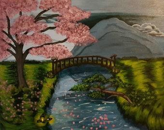 Bridge of Life Acrylic Painting