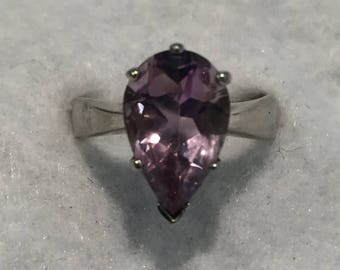 22%OFF ISC Pear Shaped Amethyst Rings - CA 1970's - Sizes 7 (R107), 8 (R115), & 8.5 (R116)