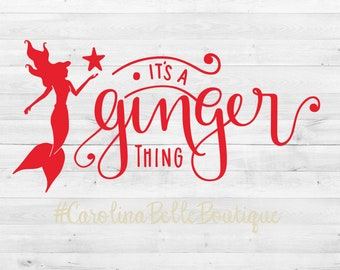 It's A Ginger Thing Vinyl Decal