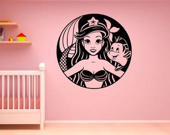 The Little #Mermaid Starbucks Wall Art Vinyl Decal Sticker Stencil Mural