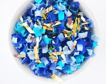 Blue Confetti | Blue Suede | Party Confetti | Gender Reveal | It's a Boy | Party Decor | Blue