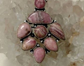 Rhodochrosite Pendant Necklace