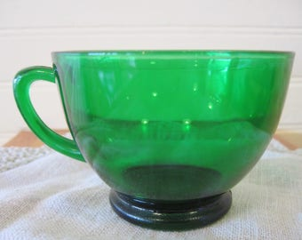 Anchor Hocking Forest Green Punch Cup - Item #1586