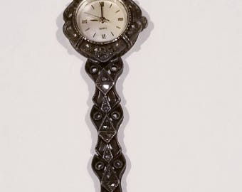Vintage Marcasite and Sterling Silver Watch