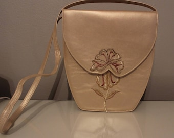 Vintage Gold Floral Handbag