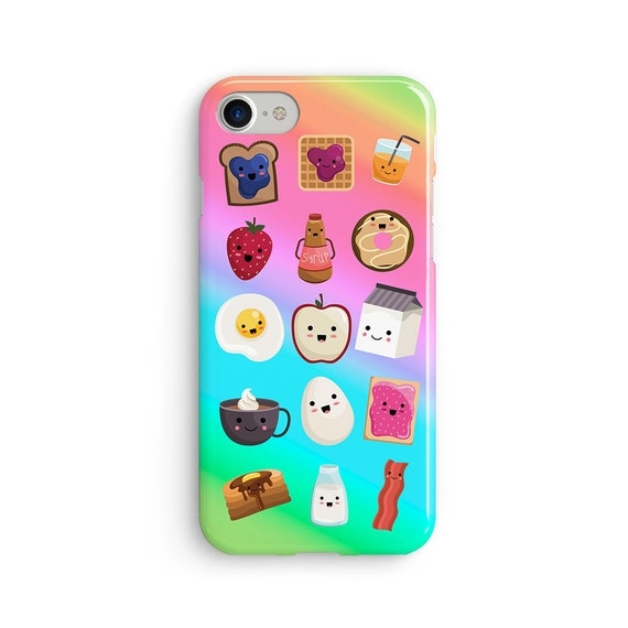 Kawaii breakfast items - iPhone 7 case, samsung s7 case, iphone 7 plus case, iphone se case 1P011