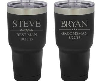 Groomsmen Gift, InsulatedTumbler, 30 oz Tumblers, Groomsmen Gift, Best Man Gift, Tumbler Mug