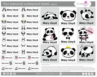 Panda - Your personal waterproof labels (68 Qty) Free Shipping