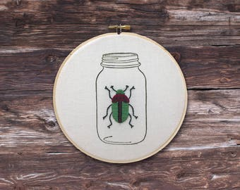 Beetle in Jar - Green