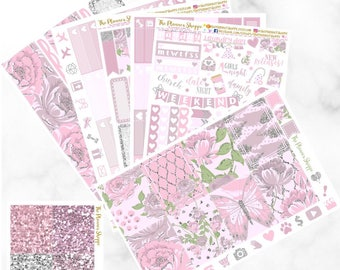 BLUSHING BEAUTY // sticker kit // Planner stickers for use with Erin Condren Lifeplanner