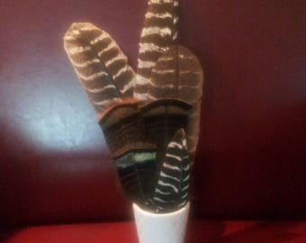 Wild turkey feathers, native crafts, craft feathers, hat making,hat decoration, floral decoration,