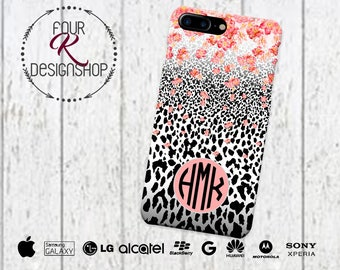 Leopard Cell Phone Case, iPhone 6 case, iPhone 6s Case, S8, leopard phone case, iPhone 6 plus cell phone case, iPhone 7 Plus, animal print