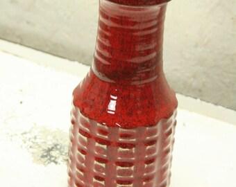 west german pottery vase by Jasba N100 1118