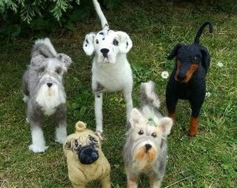 Pet Portrait 3d sculpture in needlefelt