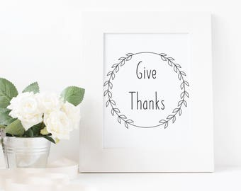 Give Thanks-Instant Download