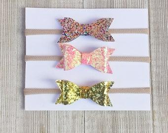 Baby girl bows ,sparkle bows