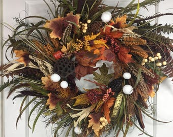 Wild About Fall Front Door Wreath