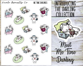 Me Time Darlings Planner Stickers