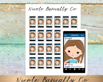 Jade Dolls- Selfie- FaceBook- iPhone- Character Planner Stickers