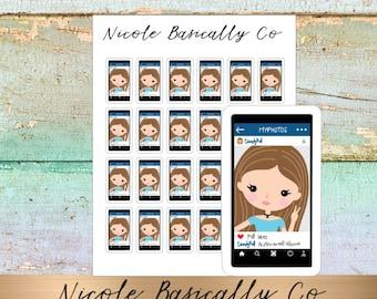 Jade Dolls- Selfie- FaceBook- iPhone- Character Planner Stickers