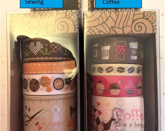 Set of Four Washi tapes - Twin Stars/My Melody/Butterfly/Minions/Betty Boop