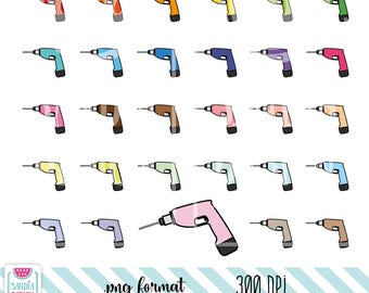 Drill Clipart. Personal and comercial use.
