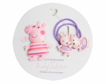 PEPPA PIG ponytail holder for kids, toddlers perfect for back to school