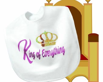 King of Everything Bib -- Polyester Fleece
