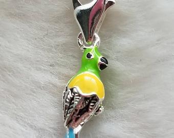 Enamel Parrot Charm - Clip On - Ready to Wear