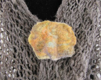 Nuno Felted Scarf Pin