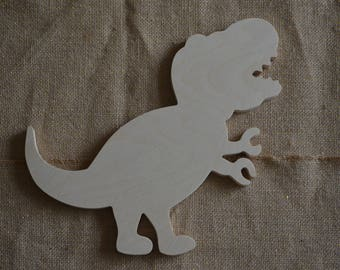 T Rex Shape, Wooden T Rex, Wooden Dinosaur Shape, Nursery, Boys Room Decor, T Rex Shape Cut Out, Baby Room Decor