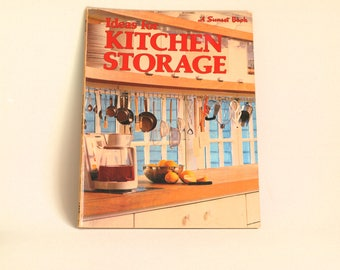 Sunset Ideas For Kitchen Storage Book - 1981 Vintage Retro Interior Design Cabinet Making - Modern Designs