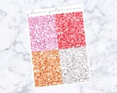 PRE-SALE! Strawberry Dreamsicle Glitter Headers (Glam Planner Stickers for Erin Condren Life Planner)