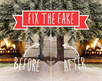 FIX UGLY POLE & beautify your artificial Christmas tree this holiday. Just as important as a tree skirt, tree topper, ornaments, or lights
