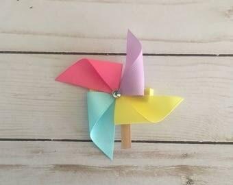 Pinwheel Hair Clip Hair Bow