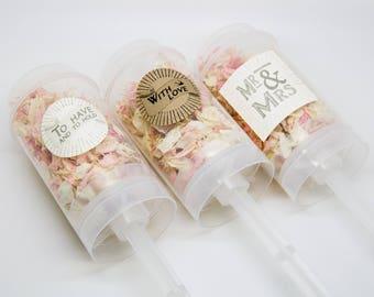 10 x Delphinium Push Pop Confetti Wands