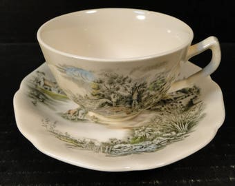 Johnson Brothers Happy England Tea Cup Saucer Set EXCELLENT!