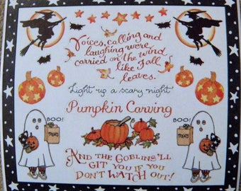 SUSAN BRANCH sticker panel - very htf - October, Fall