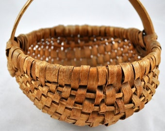 split oak basket, egg basket, hand made basket