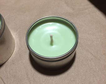 Travel tin candle