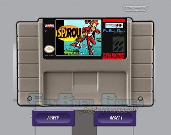 "SPECIAL ORDER! ""Spirou"" Unreleased Super Nintendo SNES Cartoon Platformer!"