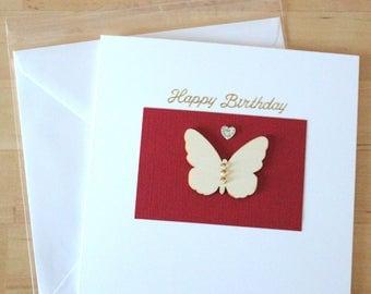 Butterfly cards, Butterfly birthday card, Butterfly Thank you cards,  thank you cards, Greeting card handmade, Handmade greetings cards