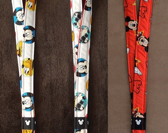 Pluto w/ Mickey, Goofy w/ Mickey, and Mickey Disney Lanyards