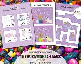 Kindergarten Prep Plans, Pre-K Teaching Aids, Preschool Curriculum for Schools, Homeschool worksheets, Phonics, Reading Worksheet, Printable