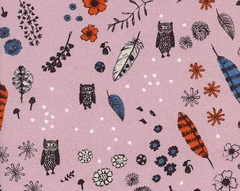 Dream Owl Lilac from Cozy by Alexia Abegg for Cotton + Steel - 1/2 Yard