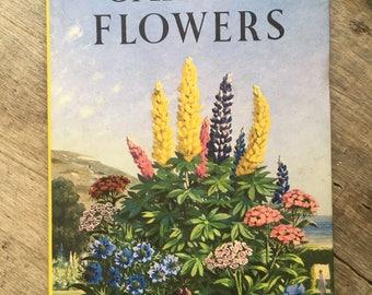 Garden flowers,vintage ladybird, 1960s ladybug, collectible book, retro book, flower pictures