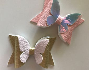 Butterfly Bow Headband or Clip (design it yourself)